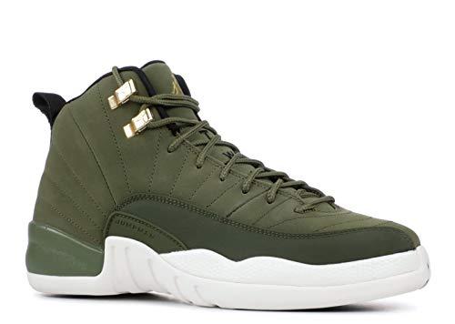 Nike Jordan Kid's Air 12 Retro GS, Olive Canvas/Metallic Gold (Youth Size 5, Olive Canvas/Metallic Gold) - Kids Schuhe 5 Jordan