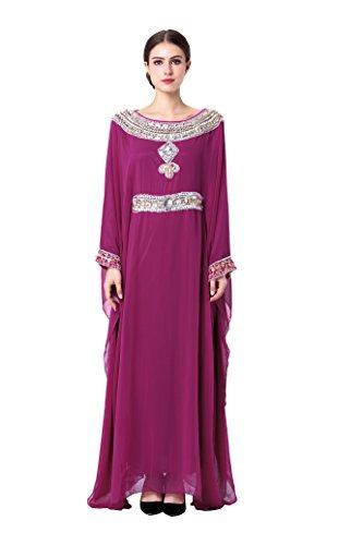 Foto de Musulmán islámica abaya / jalabiya kaftan caftán dubai maxi vestido largo para las mujeres ropa vestido de rayón LF15