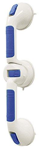 Newsbenessere.com 31MAE1IIuOL Aidapt - Maniglia ergonomica con doppio punto di fissaggio a parete, a ventosa, affidabile e robusta