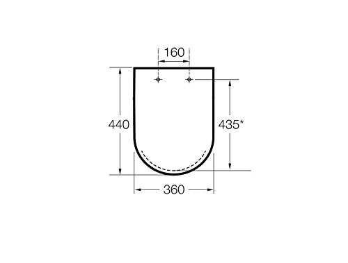 Roca A80162C004 WC-Deckel und Ring mit Absenkautomatik