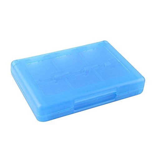 PIXNOR 28 in 1 Game Card Holder Case Spielkarten-Halter für Nintendo NDS NDSI NDSILL 2DS 3DS 3DSLL/XL (blau)