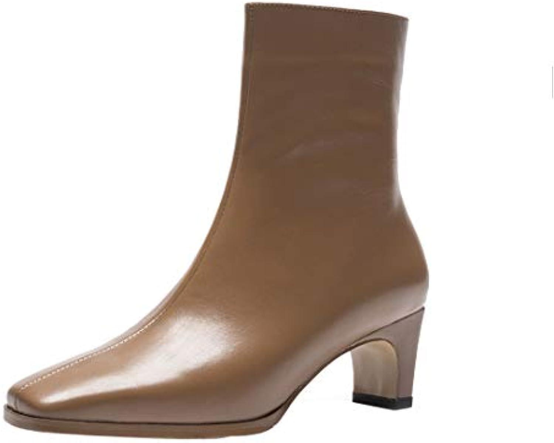 MAYPIE Donna Toagent Leather Cerniera Tacco a Blocco Stivali | Lascia che i nostri prodotti vadano nel mondo  | Uomini/Donne Scarpa