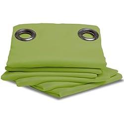 IDEENREICH 2050 - Cortina para habitación, color verde