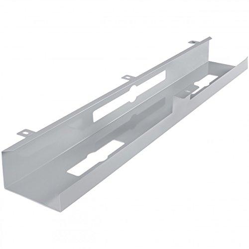 FineBuy Kabelkanal Schreibtisch 80x7x13 cm breit Untertisch Kabelführung Metall   Kabelmanagement...