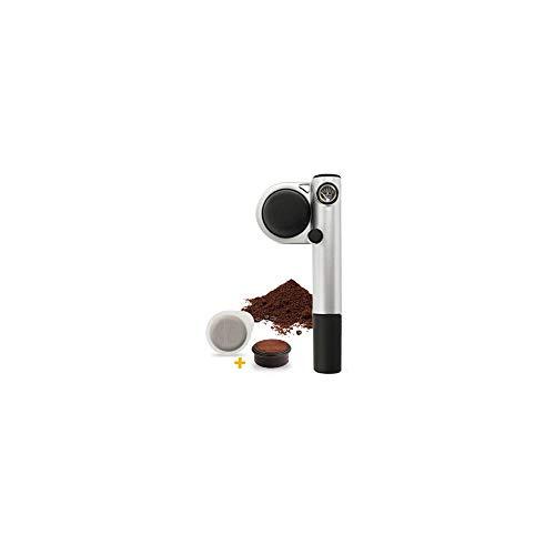 Handpresso 48256 Wild Hybrid Tragbare Espresso-Maschine, Aluminium, 22 x 9,5 x 7cm, silberfarben