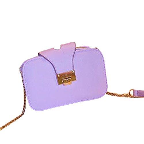 TELLW %2Fwomen da donna fashion-Borsetta e borsa a tracolla, viola (Viola) - 078
