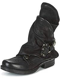 Minetom Stivali Donna Scarpe Autunno Inverno retrò Pelle Casual Ankle Boots  Stivaletti Tacchi Bassi Zip Stivali 13e7b8a47dd