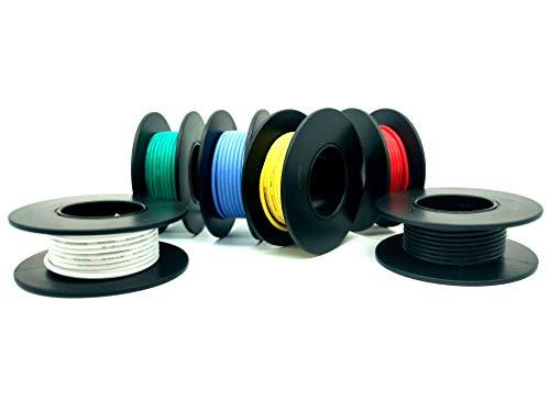 Cable de 18 AWG Cable de silicona de 5m Cable de cobre estañado, suave y flexible Resistencia a alta temperatura de cable trenzado 600V (18AWG)