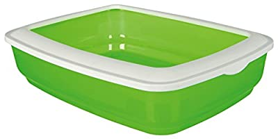 Trixie Cisco Cat Litter Tray with Rim, 50 x 38 x 11 cm (Assorted Colors)