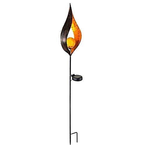 ZJRA Magic Stick Solar Taschenlampen, Auto EIN/Aus, Sonnenenergie, Sicherheitspfad LED-Licht, Garten, Pfad, Garten, Terrasse, 4St