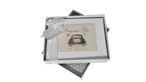 Strass-album (White Cotton Cards Fotoalbum für Flitterwochen klein Foto Album Hochzeit Auto Range)