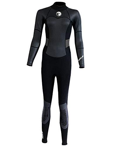 UR MAX BEAUTY Frauen Wetsuit Voll 1.5Mm Neopren Surfen Tauchen Schnorcheln Tauchanzug,L