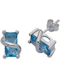 H. Gaventa Ltd E - 11829 - Pendientes de mujer de plata con 2 topacios