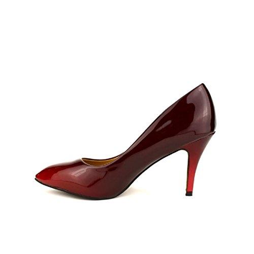 Cendriyon Escarpin Grande Pointure Rouge Verni Pixie Chaussures Femme Rouge