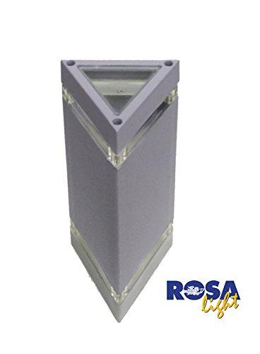 Applique triangolo in alluminio pressofuso 2x35W GU10 IP43 Grigio