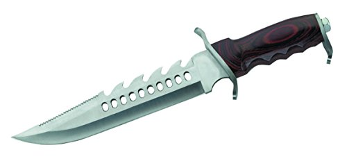 Herbertz Gürtelmesser, AISI 420, Pakkaholz, Lederscheide Messer, Mehrfarbig, One Size