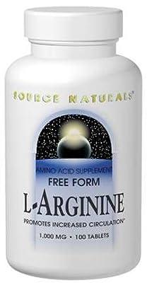 Source Naturals L-Arginine, 100 Tabs, 1000 Mg