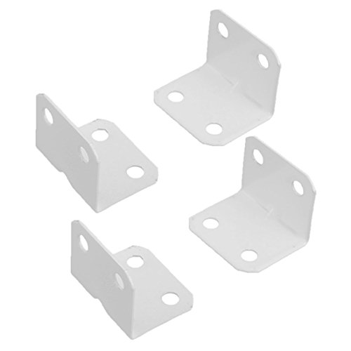 Sourcingmap a16080800ux028790Grad Home Möbel L Form rechtwinklig Metall Corner Brace Teller Halter-Weiß (4-teilig)