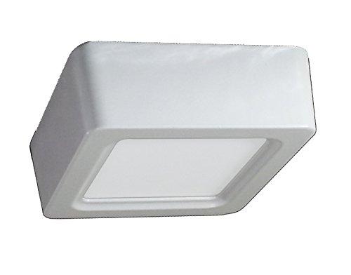 V-TAC 4801 8 W LED Panel Aufbauleuchte Glas - Eckig - 4500 Kelvin naturweisses Licht 720 Lumen VT-1408SQ