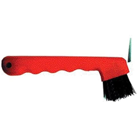 PARTRADE 245855\222737 Hoof Pick with Brush, 7, Red by Partrade
