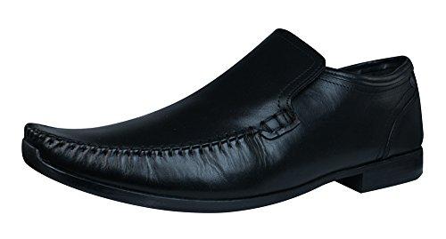 Base London Acrobat Hommes Chaussures en cuir / Mocassins Noir