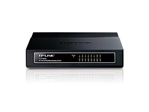 TP-Link TL-SF1016D Switch 16 Ports 10/100 Mbps (Bureau, Boîtier Plastique)