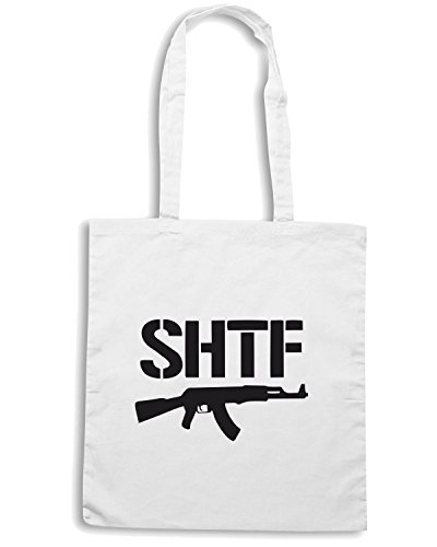 T-Shirtshock - Borsa Shopping OLDENG00237 shtf ak47 Bianco