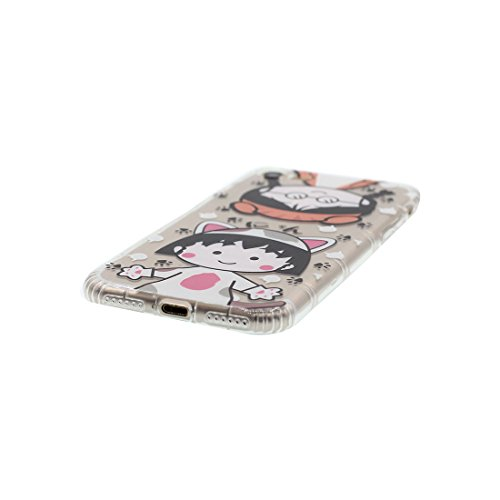iPhone 6 Plus Custodia, Prova di scossa anti-graffio [ Cartoon Disney sirena ] TPU Silicone Trasparente Nuovo Gel Soft Case iPhone 6 Plus /6S Plus Custodia (5.5 pollici) durevole Cartoon Cover # # 6