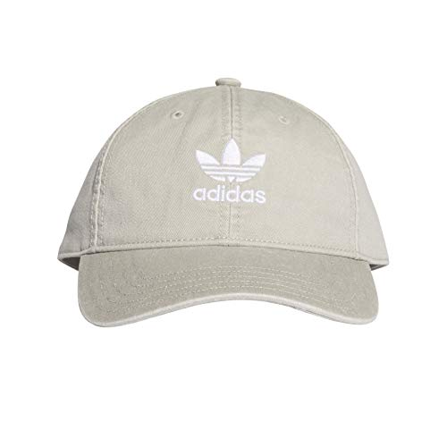 adidas Herren Adicolor Washed Baseball-Cap, Solid Grey/White, FR Unique (Taille Fabricant : OSFM)