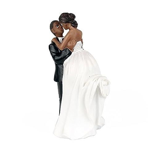 Lanlan Romance Hochzeit Jahrestag Kuchen Puppe Dekoration Braut und Bräutigam African American (Wilton Kuchen Tin)