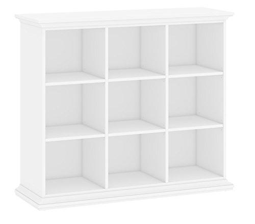 Raumteiler PARIS Wohnregal Standregal Bücherregal Regal Stellwand weiß 9 Fächer
