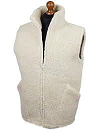 Weste aus Schafwolle mit Stehkragen Weiß