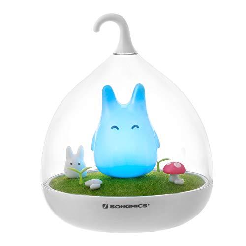 SONGMICS Nachtlicht Baby Kinder LED-Lampe Schlummerleuchte Totoro dimmbarmit USB Aufladbar mit Touch-Sensor Vibration Geschenk FSL02