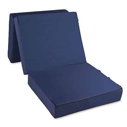 aktivshop Gästematratze »Deluxe« Klappmatratze Gästebett Faltmatratze Reisebettmatratze 4 cm Visco, blau, 195 x 75 x 15 cm