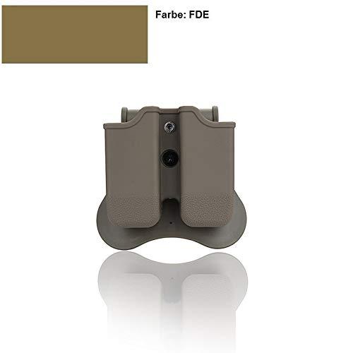intasche FDE Farbe für alle Glock doppelreihige Magazine, mit Neigungswinkel 360° und Ziehwiderstand Einstellung ()