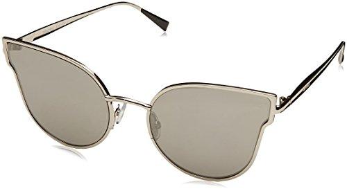 Max Mara Damen MM ILDE III T4 9RQ 57 Sonnenbrille, Silber (SMOKE SILVER/GY GREY),