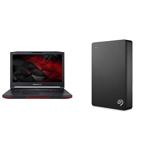 Acer Predator 17 X 17.3-Inch Notebook (Intel Core i7-7820HK, 16 GB RAM, 1 TB HDD, 256 GB SSD, NVIDIA GeForce GTX 1080, Windows 10 Home) + 4TB Seagate Backup Plus External Hard Drive