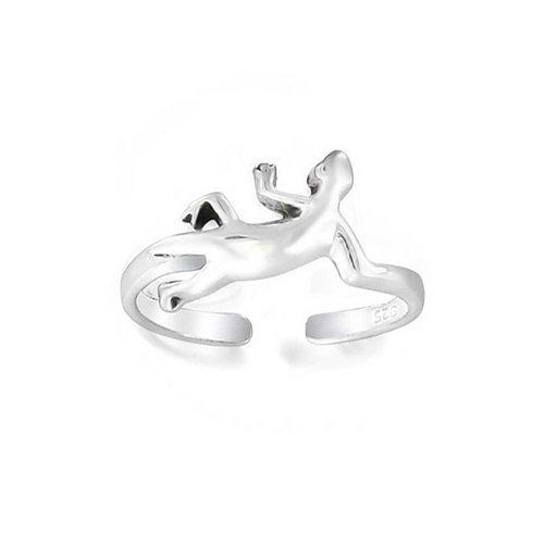 Personalisierte Schlange Umgehen Midi-Zehe Ringe Oxydiert 925 Silber Sterling Einstellbare Custom Graviert