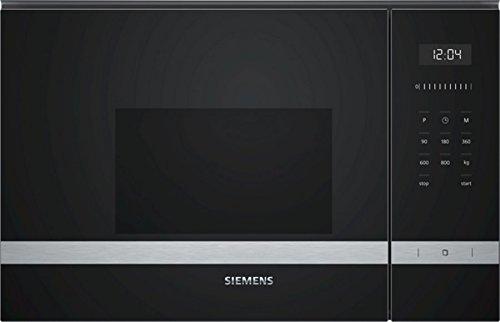 Siemens BF525LMS0 Mikrowelle (Einbau) / 59,4 cm / Elektronikuhr / Seitlich öffnende Drehtür / Edelstahl
