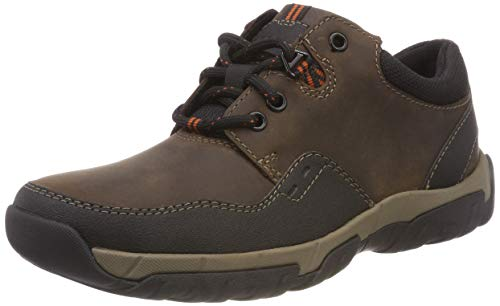 Clarks Herren Walbeck Edge II Derbys, Braun (Brown Leather), 42.5 EU - Clarks Halbschuhe