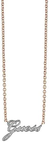 Guess Women's Stainless Steel Signature Swarovski Pendant Necklace - UBN8