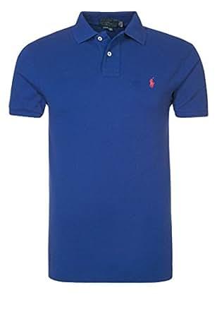 Hommes SLIM FIT Polo bleu | Polo Ralph Lauren | Intelligent Nouveau Hiver 2014 - 2015 Vêtements Pour Hommes Classique FR S'adapter Excessif de (S)