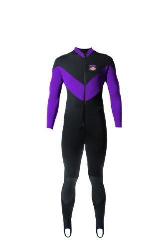 Aeroskin Full Body Suit Spine/Kidney with Kevlar Knee Pads (Black/Purple, Large) by FBAPowersetup preisvergleich