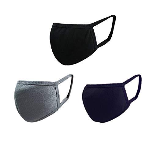 Gesunde Gesicht (Makwes Unisex 3 Stücke Aktivkohle Baumwolle Masken Anti Staub Allergie Grippe Muffel Outdoor Anti Fog Warm Gesicht Mund Maske Gesunde Sicherheit Atemschutzmaske Erste Hilfe)