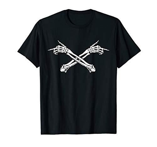 Kostüm Black Metal - Lustig Knochen Hand Kostüm Fun Feiern Metal Halloween T-Shirt