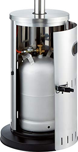 Enders Terrassenheizer Gas SOLID Edelstahl, Gas-Heizstrahler 5800, Heizpilz mit stufenloser Regulierung, Turbo-Brenner, höhenverstellbar, Transporträder, Umkippsicherung - 7
