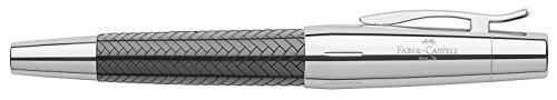 Faber-Castell 148241 - Füllfederhalter e-motionl Edelharz Parkett, Feder: F, inklusive Geschenkverpackung, Schaftfarbe: schwarz / silber
