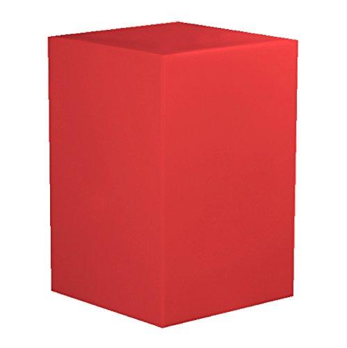 Kubus aus Kunststoff verschiedene Farben Schwarz Rot Sitzsack Base Beistelltisch Sitz Stuhl Hocker...