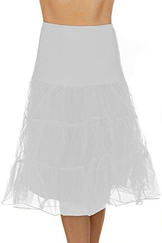 Tüll Petticoat Unterrock verschiedene Farben (L, weiß)
