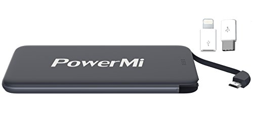 Batera-Externa-Mvil-PowerMi-Salida-Micro-USB-con-Adaptador-Type-C-5000-mAh-Samsung-Galaxy-iPhone-5-6-7-Xiaomi-Huawei-Nexus-etc-Cargador-externo-porttil-ultra-delgado-y-ligero-Power-Bank-Adaptador-Ligh